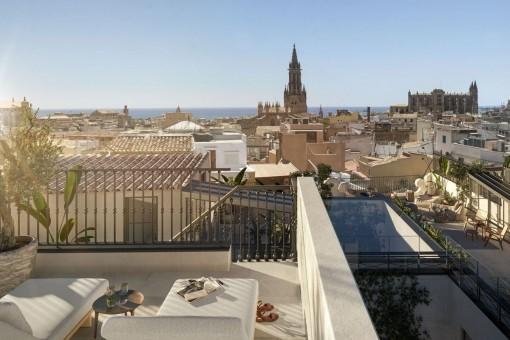 Wunderschönes, kernsaniertes Penthouse mit großer Terrasse im Zentrum von Palmas Altstadt zum Erstbezug