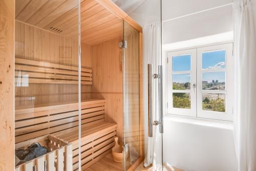 Sauna im Hauptschalfzimmer