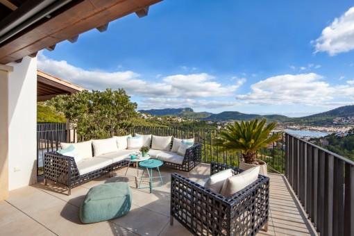Luxuriöses Penthouse mit atemberaubenden Weitblick über Port d´Andratx