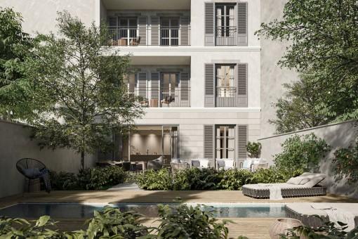 Neubau 2-Schlafzimmer Apartment mit privater Dachterrasse in unmittelbarer Nähe zum Palma Sport- und Tennis Club in Santa Catalina
