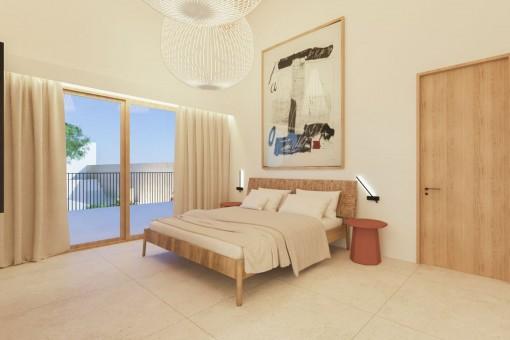 Alternative Ansicht des Schlafzimmers