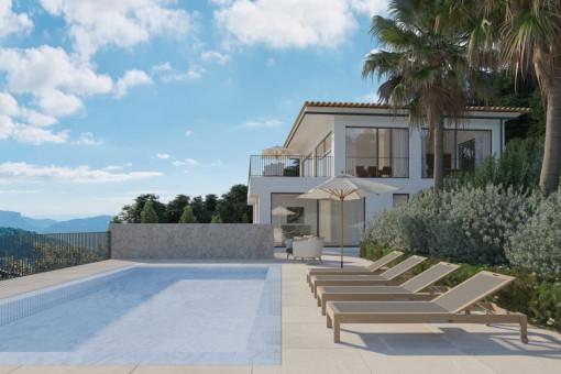 Luxuriöse Neubauvilla mit Meerblick in Galilea