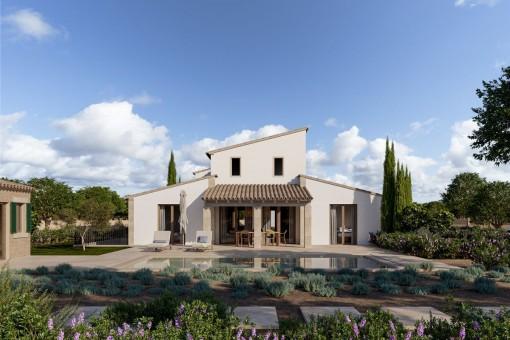 Exklusives Anwesen in Santa Maria mit Weitblick im Weinanbaugebiet am Fuße der Tramuntana