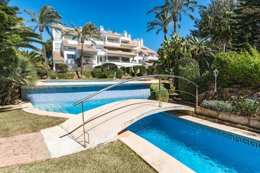 Luxus-Erdgeschosswohnung in 1. Meereslinie in Santa Ponsa