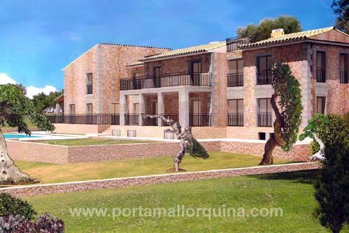 Luxuriöse Neubaufinca mit wundervollem Ausblick bei Alcudia