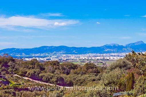 Ländliches Grundstück mit weitem Blick auf die Bucht von Palma - S´Aranjassa - Llucmajor