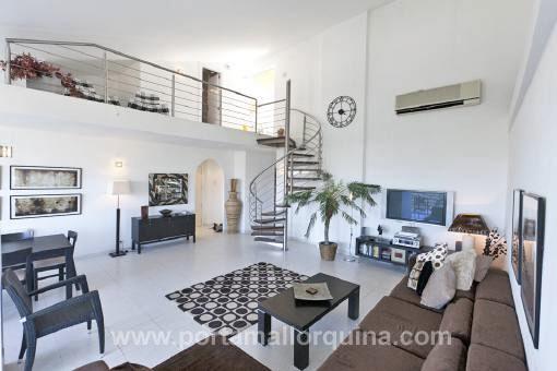 Umwerfendes DuplexPenthouse Mit Atemberaubendem Ausblick Galerie Im Wohnzimmer