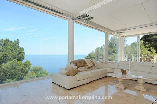 Villa Wohnzimmer : Canyamel moderne neubauvilla in hanglage mit fantastischem