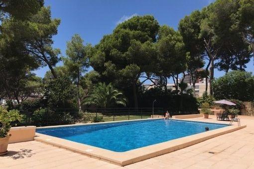 Schicke, helle Wohnung mit Pool und in Strandnähe