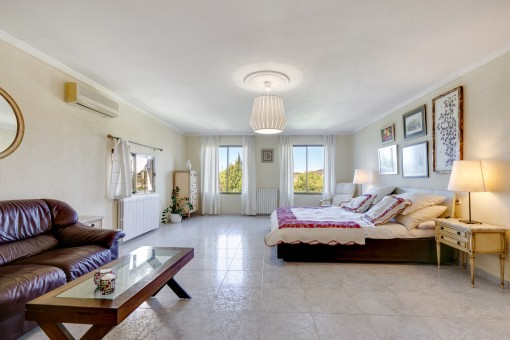 Hauptschlafzimmer mit Chill out Bereich