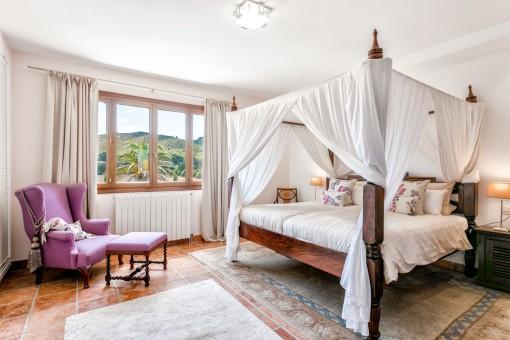 Sehr komfortables Schlafzimmer