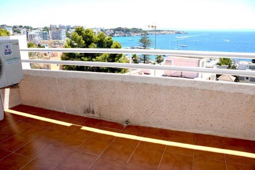 Balkon mit tollem Meerblick