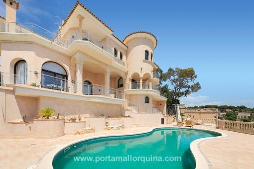 Luxuriöse Villa in erster Meereslinie Sol de Mallorca