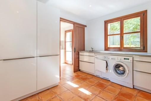 Waschraum neben der Küche