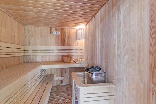 Finnische Sauna für kältere Tage