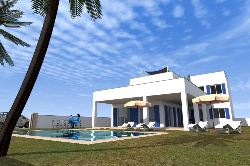 Im Bau befindliche Villa in Meeresnähe zu kaufen
