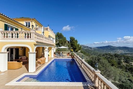 Atemberaubende Villa mit Panoramablick