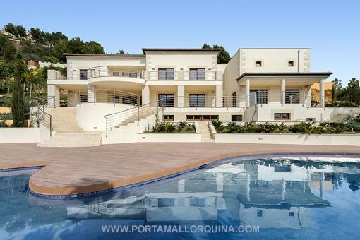 Moderne luxusvilla mit pool  Villa Mallorca kaufen: Villen von Porta Mallorquina