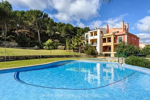 Modern möblierte Wohnung mit Terrasse in attraktiver Gegend von Santa Ponsa