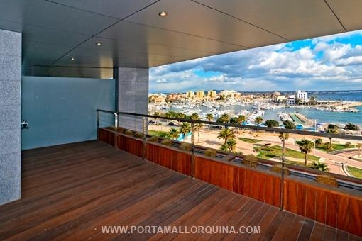 Moderne Traum-Meerblick-Wohnung direkt am Hafen von Portixol