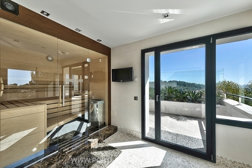 Sauna mit herrlichem Ausblick