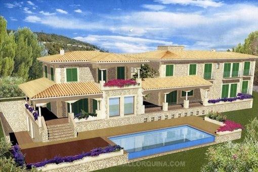 Traditionelle, mediterrane Architektur