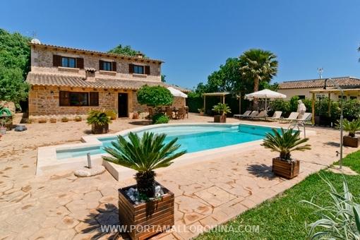 Entzückende Finca mit Gästehaus in ruhiger Lage, nahe zur Altstadt von Alcudia