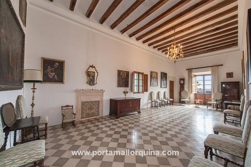 Dieser Raum ist emblematisch für dieses historische Anwesen