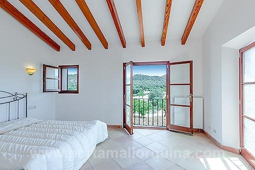 Schlafzimmer mit wunderschönem Blick