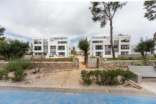 Wohnhäuser in erster Strandlinie