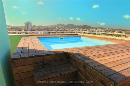 Luxus-Penthouse-Wohnung mit Jacuzzi und Fitnessraum auf Dachterrasse