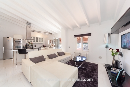 wohnzimmer modern : küche mit wohnzimmer modern ~ inspirierende,