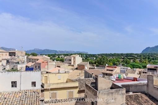 Panoramaaussicht von der oberen Terrasse