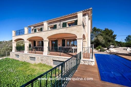 Moderne Villa in Valldemossa, in sehr gutem Zustand und mit traumhaftem Blick