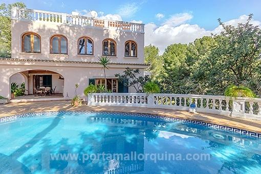Großartige Villa mit teilweise - Meerblick im Wohngebiet Costa d'en Blanes