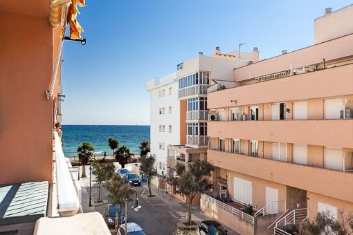 Tolle Wohnung mit seitlichem Meerblick in Es Molinar - La Gruta