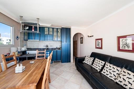 Herrlicher Wohnbereich mit Küche