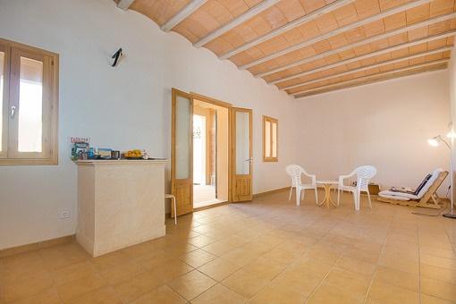 Der Wohn-/Essbereich im Erdgeschoss