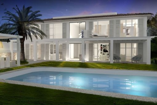 Moderne Luxus-Neubauvilla mit Ausblick in Bendinat