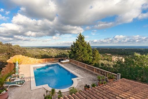 Traumvilla mit Panoramablick am Rande von S'Horta