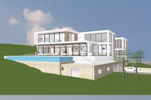 Wunderschönes minimalistisches Projekt mit Ausblick und Pool in Genova