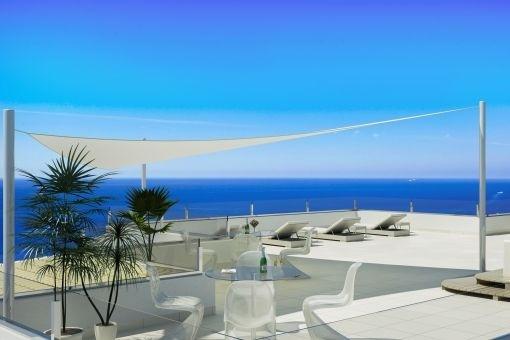 Neubau-Penthaus in Cala Moragues mit unglaublichem Meerblick