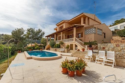 Großartige Familienvilla mit Meerblick in Costa d'en Blanes