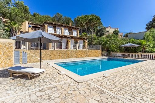 Mediterrane Villa mit Meerblick und Strandzugang in Costa de la Calma