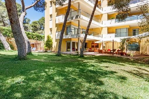 Ruhige Erdgeschosswohnung, mit großem privaten Garten in Sol de Mallorca