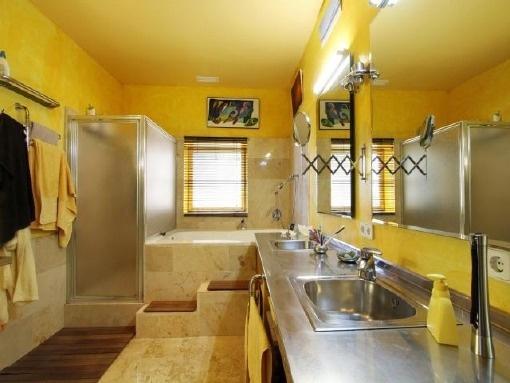 Tageslichtbadezimmer mit Dusche und Badezimmer