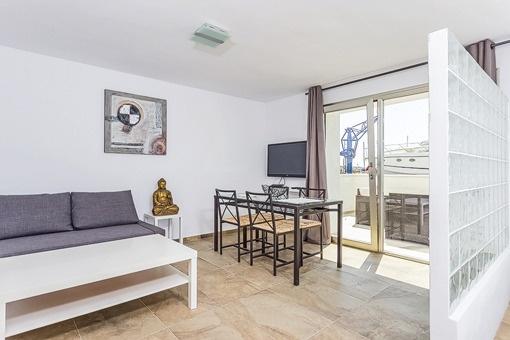Wohnbereich des Apartments