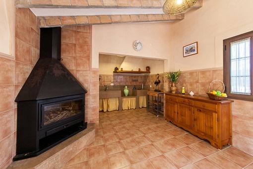 Küche und Wohnbereich des Gästehauses