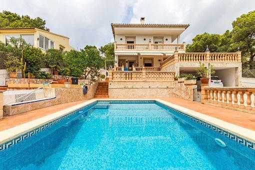 Gemütliche Villa in ruhiger, zentraler Lage und großem Garten in Santa Ponsa