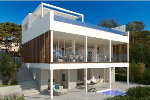 Luxuriöse, supermoderne Villa in erster Meereslinie, Fertigstellung Frühjahr 2018
